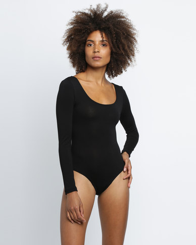 Utopia Cross Back Bodysuit Black