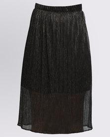 Utopia Plisse Midi Skirt Copper