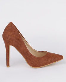 Utopia Pointy Court Shoe Brown