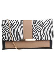 Utopia Zebra Clutch Bag Multi