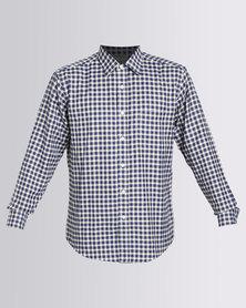 Utopia Check Long Sleeve Shirt Blue