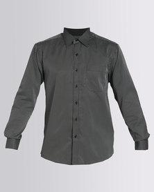 Utopia Stripe Long Sleeve Shirt Black