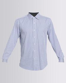 Utopia Stripe Long Sleeve Shirt Blue