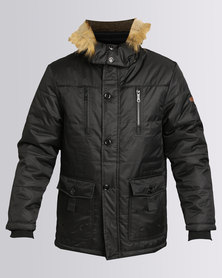 Utopia Parka Jacket With Hood Black