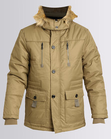Utopia Parka Jacket With Hood Khaki