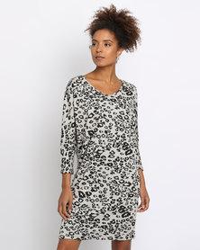 Utopia Knit Tunic Dress Animal