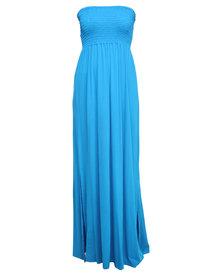 Utopia Maxi Boobtube Dress Turquoise
