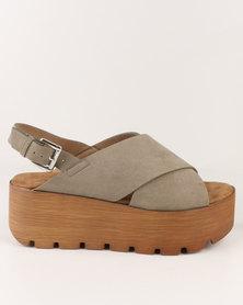 Utopia Flatform Sandal Khaki