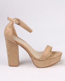Utopia Platform Block Heel Neutral