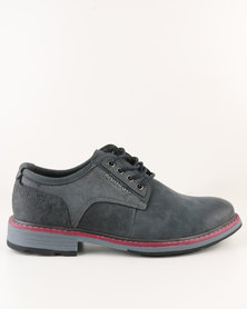 Utopia Leather Lace Up Shoe Blue