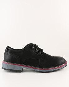 Utopia Leather Lace Up Shoe Black