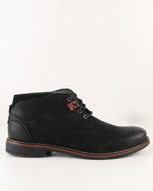 Utopia Leather Lace Up Boot Black