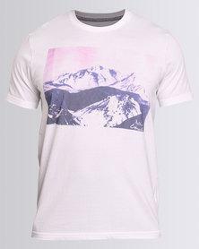 Utopia Rockies Print Tee White