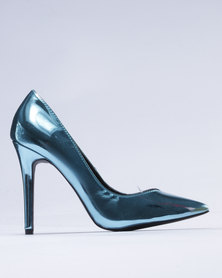 Utopia Patent Pointy Court Metallic Aqua
