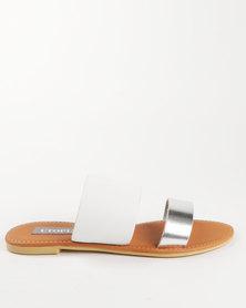 Utopia Leather Mule Sandal White