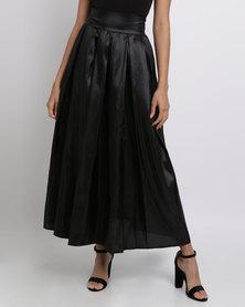 Utopia Taffeta Maxi Skirt Black
