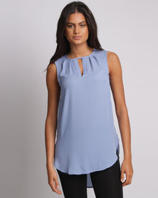 Utopia Henley Blouse Blue