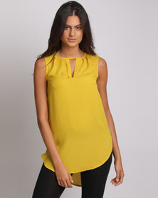 Utopia Henley Blouse Citron