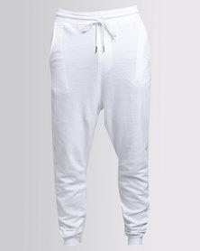 Utopia  Fleece Basic Jogger White