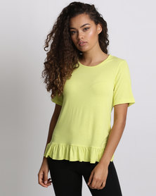 Utopia Top With Frill Citron