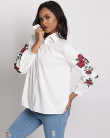 Utopia Shirt With Embroidery White