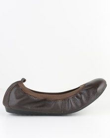 Utopia Full Leather Stretch Pump Brown