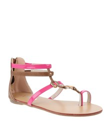 Utopia Toe Post Gladiator Sandal Pink
