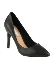 Utopia Pointy Court Shoes Black
