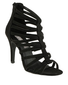 Utopia Caged Heel Black
