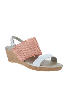 Utopia Bandage Wedge Sandals Pink