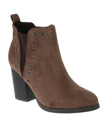 Utopia Eyelet Chelsea Boots Taupe