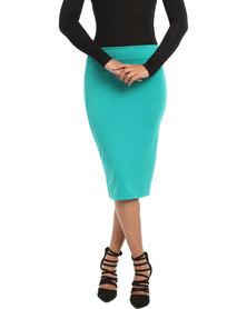 Utopia Basic Pencil Skirt Emerald