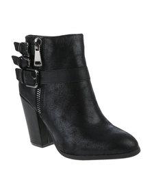 Utopia Pistol Ankle Heel Boots Black
