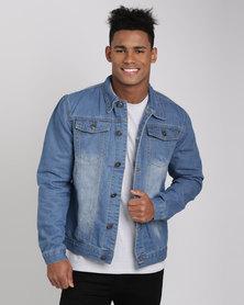 Utopia Men's Denim Jacket Light Blue