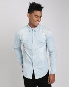 Utopia Men's Denim Shirt Light Blue