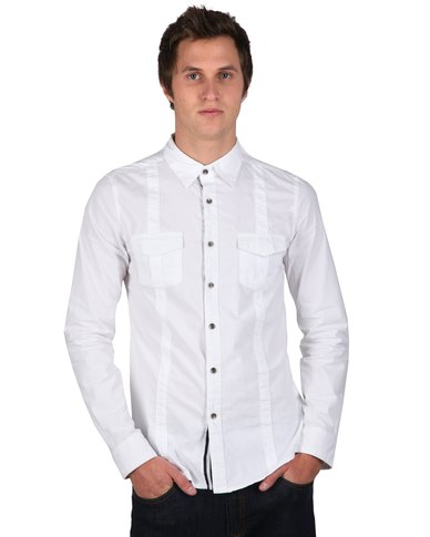 Utopia Holiday Mood Front Panel Shirt White