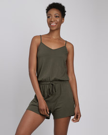 Utopia Knit Playsuit Olive