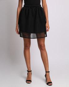 Utopia Flare Honeycomb Mesh Skirt Black