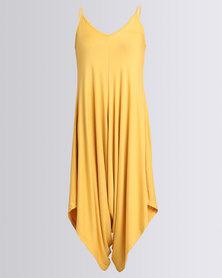 Utopia Knit Jumpsuit Mustard