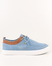 Utopia Casual Lace Up Light Denim Blue