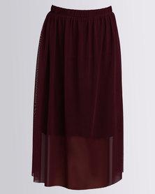 Utopia Mesh Skirt Purple