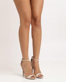 Utopia Wild Diva Patent Heeled Sandal Nude
