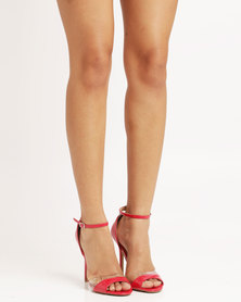 Utopia Wild Diva Patent Heeled Sandals Red