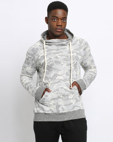 Utopia Camo Fleece Sweattop Grey