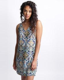 Utopia Print Viscose Tunic Dress Paisley
