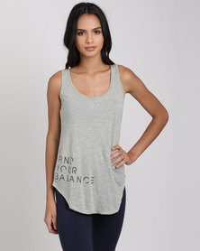 Utopia Find Your Balance Relaxed Vest Grey Melange