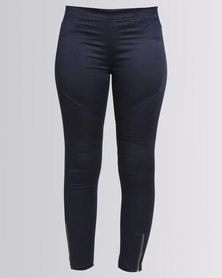Utopia Biker Jeggings Navy