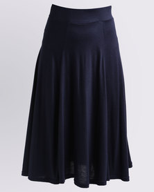 Utopia Flare Knit Skirt Navy