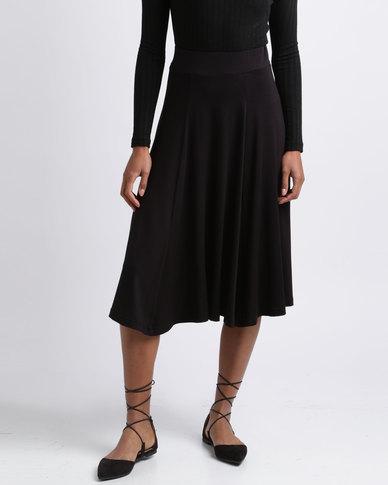 Utopia Flare Knit Skirt Black
