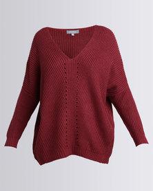 Utopia Oversized Knitwear Jumper Beetroot Pink